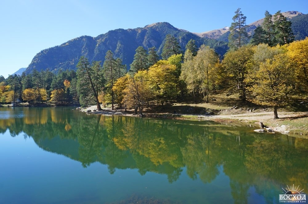 Теберда. Осень на озере Кара-кель